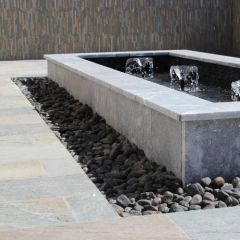 Natural Stone Pavers: Atlantic Blue Tumbled Paver