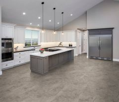 Pietra Luxury Vinyl Tile with attached underlayment & Revotec Technology by Engineered Floors