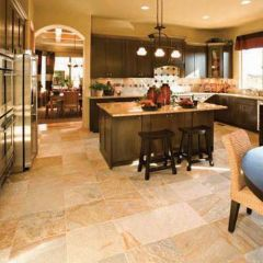 Golden Quartzite on Kitchen Floor