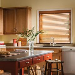 Faux Wood Blinds Room Scene, by Graber