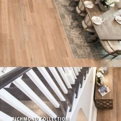 "Richmond Collection 3/4"" Solid White Oak have a true wire brush, hand scraped and hand distressed design"